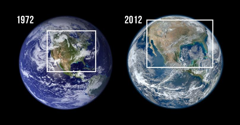 美國NASA提供的地球照片