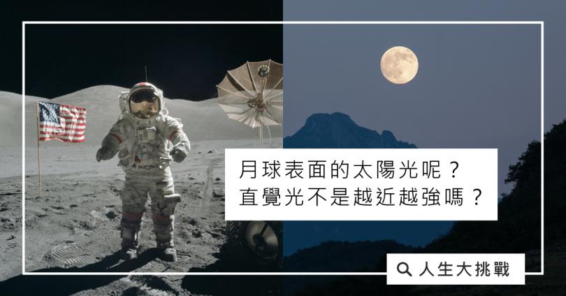 月球的直覺光為什麼越遠反而越強?
